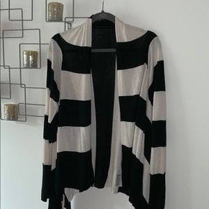 H&M Black & White Sweater Duster